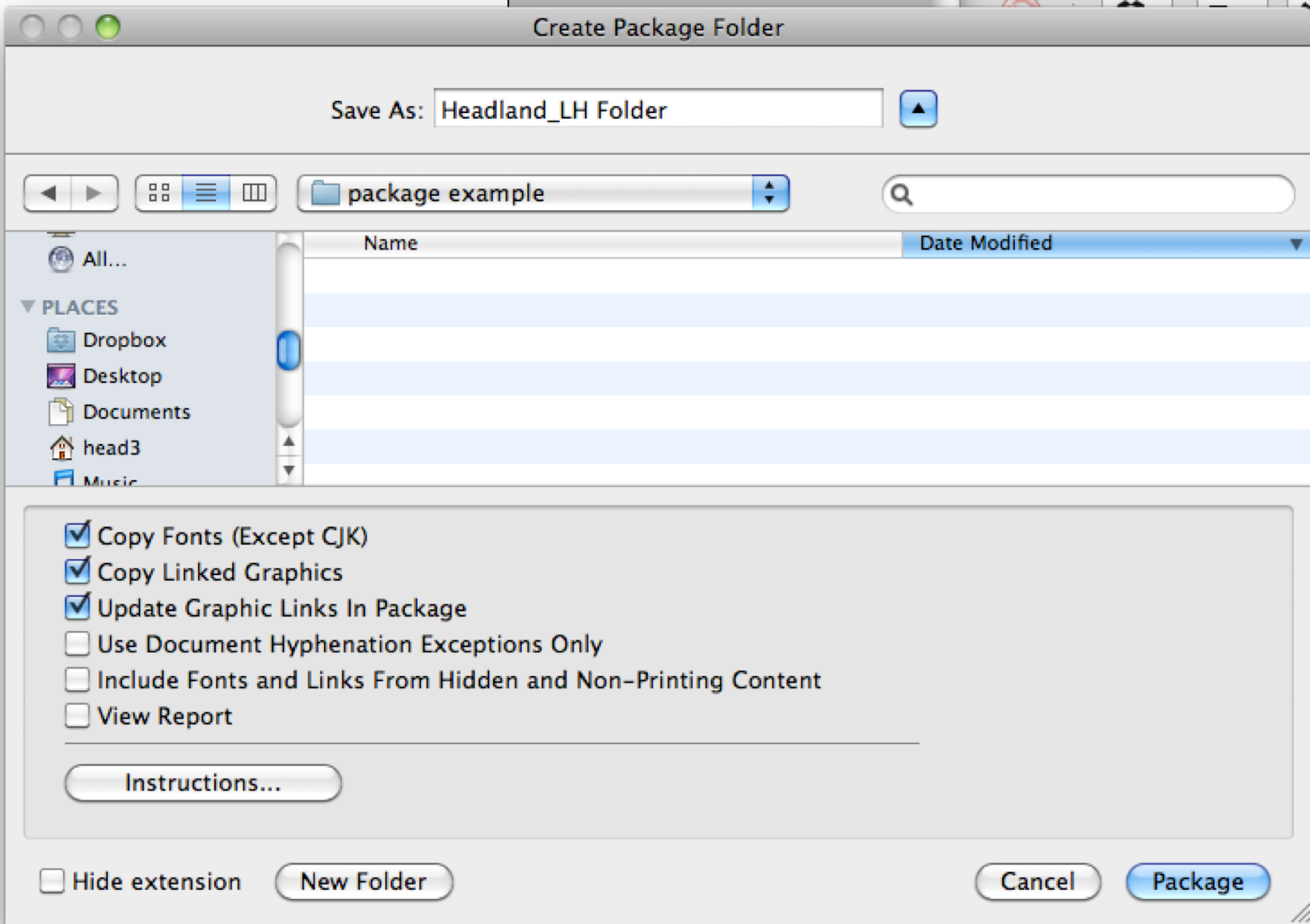 How to Package your InDesign file
