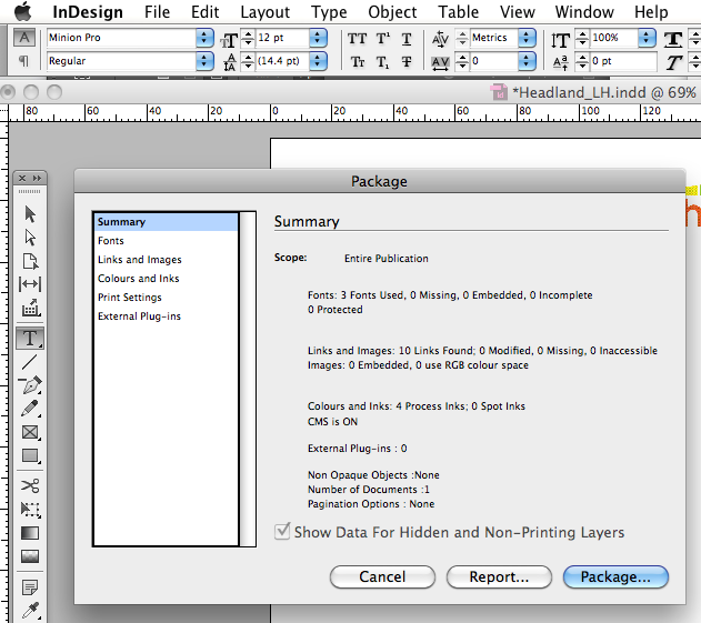 How to Package your InDesign files